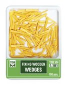 Fixing Wooden Wedges Refill, 100 st (ORANGE)
